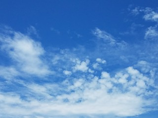 Cloudscape and blue sky