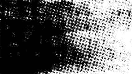 Grunge halftone vector black white. Abstract vintage texture black and white