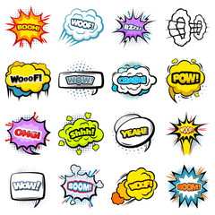 Comic Colorful Speech Bubbles Collection
