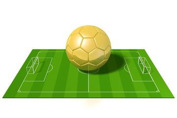 3D golden soccer/ football