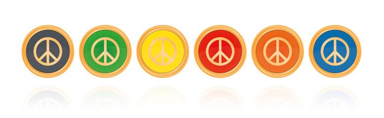 Peace - Bronze Buttons