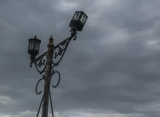 Old broken light post