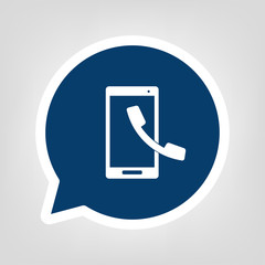 Sprechblase Smartphone Anruf