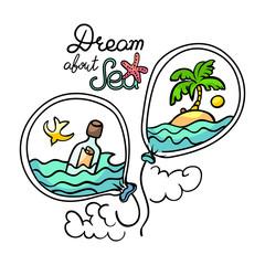 Sea trip vector illustration