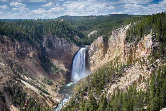 Lower Yellowstone Falls  And Canyon