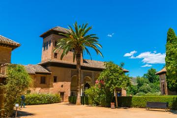 Granada, Spain, juli 1, 2017: the old city of La Alhambra near Granada