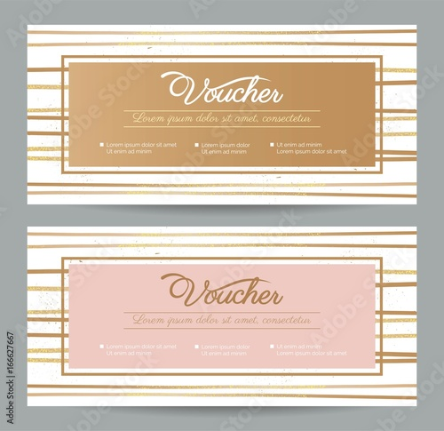 Gift voucher coupon discount gift certificate template with gift voucher coupon discount gift certificate template with abstract lines background shopping concept yadclub Image collections