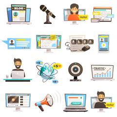 Blogosphere Communications Icon Set