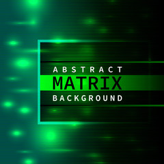 Abstract green matrix background