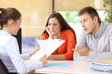 Couple with problems in a marriage counseling