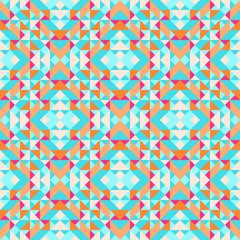 Ethnic geometric pattern with elements of traditional tribal folk style. Vector illustration.