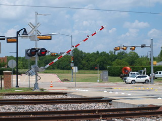 Rail Crossing Gate Gong Down