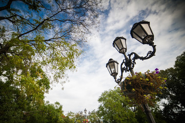 Old city lamps