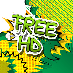 Free HD - Comic book style phrase on abstract background.