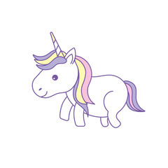 nice unicorn with horn and hairstyle design