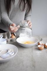 Baking time (add sugar)