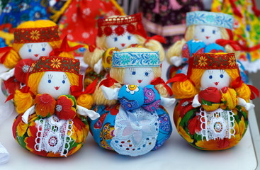 Toys dolls. Folk art