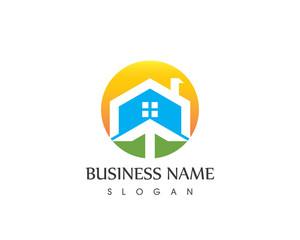 Building Home In Arrow Logo Design
