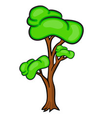 cartoon tree vector symbol icon design. Beautiful illustration isolated on white background