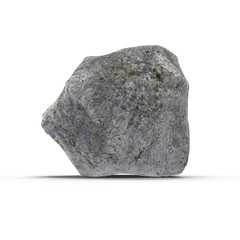 Stone isolated on white. 3D illustration, clipping path