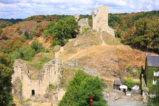 Medieval Castle of Crozant in Limousin, France