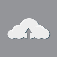 Download from cloud icon, vector best flat icon, EPS