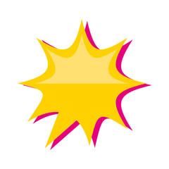 pop art splash icon vector illustration design