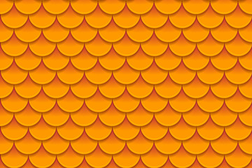 Seamless pattern of colorful orange fish scales. Fish scales, dragon skin, Japanese carp, dinosaur skin, pimples, reptile, snake skin, shingles.