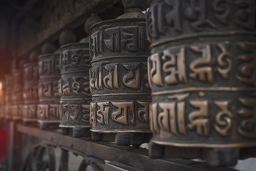Buddhist temples are prayer drums
