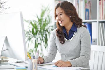 Female businesss executive