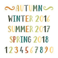 Four seasons lettering
