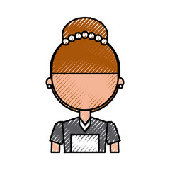 Housekeeper avatar character icon vector illustration design