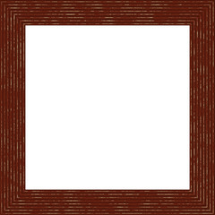 Dark Brown Weathered Square Wood Photo Painting Picture Frame