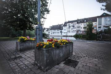 Blumenkästen an der Nahe in Bad Kreuznach
