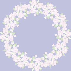Floral round frames from cute