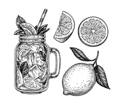 lemonade and lemon