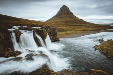 Kirkjufell Mountain and on Snaefellsnes Peninsula