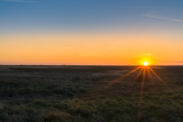 Wonderful sunset in Danmark, Romo