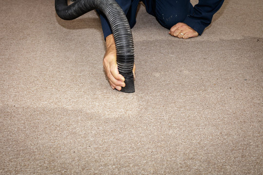 Removing water from a carpet
