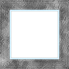 Gray Blue Weathered Square Wood Photo Painting Picture Frame