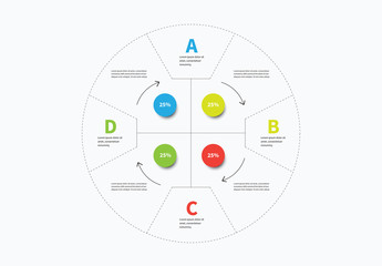 Four Section Circular Infographic Layout 1