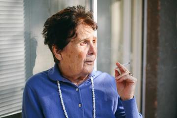 Portrait of a senior woman with a cigerette