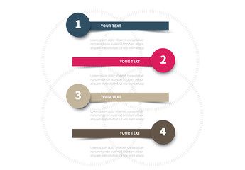 Four Section Stacked Infographic Layout