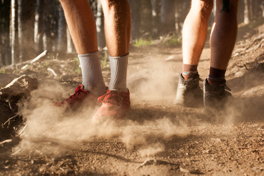 Hiking Feet in Dust.