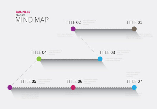 Dashed Line Mind Map Infographic Layout