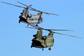 Military heavy cargo helicopters
