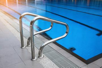 swimming pool with swim lanes.