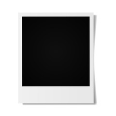 Photo frames on a white background. Vintage photo frames.Realistic vector.