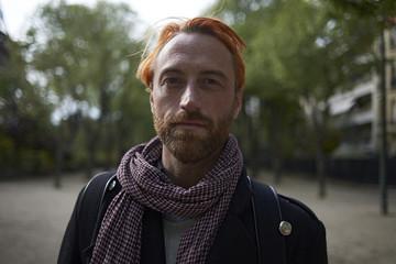 Portrait of confident man at park in Paris