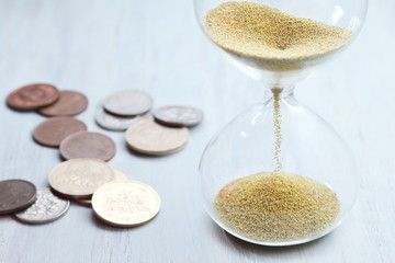 時間 金 ビジネス マネー 砂時計 経済